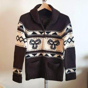 TNA Aritzia Sea to Sky Lambswool Sweater Zip-up